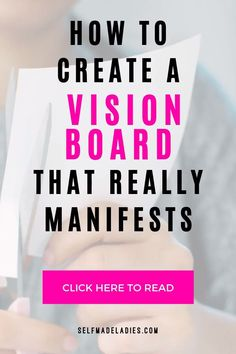 How to Create a Vision Board that Really Manifests (in 5 Simple Steps!) learn how to create a dream board that actually works! A vision board is without a doubt a very powerful law of attraction tool Vision Boarding, Self Development, Personal Development, Affirmations, Creating A Vision Board, Create A Board, Manifestation Law Of Attraction, Budget Planer, How To Manifest
