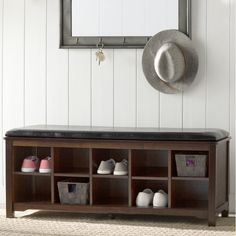Charlton Home Cape Anne Wood Storage Entryway Bench & Reviews | Wayfair