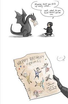 Gerome's birthday!! Emilia's Scribbles