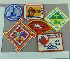 boys Lot of 6 Vintage Boy Scout Badges Patches Nordjamb 75 Hikathon Camp Cub Scouts, Girl Scouts, Boy Scout Badges, Boy Scout Patches, Scouts Of America, Vintage Boys, Merit Badge, Winter Camping, Blue Bird