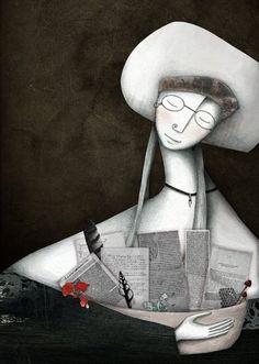 Librarian, mistress of dreams / Bibliotecaria, maestra de sueños (ilustración de Evangelina Prieto)