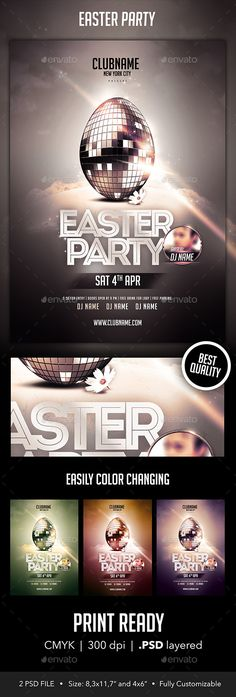 Easter Party,april, awesome, black, capodanno, club, cmyk, deluxe, disco, disco ball, dj, easter, egg, eve, exclusive, flyer, fun, luxury, new york, party, pasqua, print, rabbit, silver, Special Guest, vip