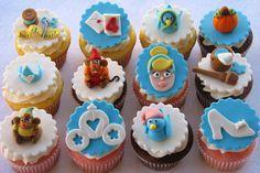 Cinderella Cupcakes (by Lynlee's Petite Cakes) Disney Princess Cupcakes, Cinderella Cupcakes, Princess Cookies, Cinderella Party, Princess Party, Fun Cupcakes, Cupcake Cakes, Cup Cakes, Cupcakes Design