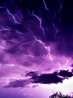 violet electrical storm