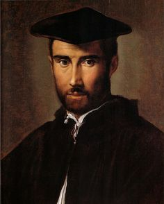 Portrait of a Man by Parmigianino, Galleria Borghese.