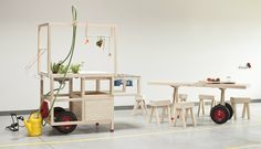 Mobile Hospitality: An Instant Cafe on Wheels - Remodelista Mobiles, Nomadic Furniture, Moving Furniture, Design Awards, Art Decor, Home Decor, Kitchen Design, Furniture Design, Dining Table