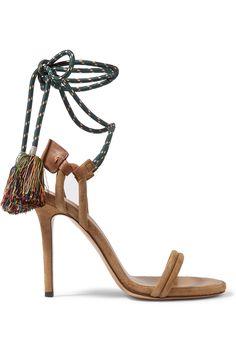 796840011e48c Isabel Marant - Alois tasseled leather-trimmed suede sandals