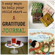 kids gratitude journals + 4 additional activities