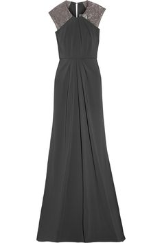 Embellished stretch-satin jersey gown | THE OUTNET