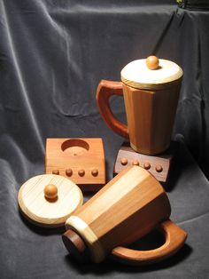 Toy All Wood Blender Just Right Size by cattoy4 on Etsy, $27.50