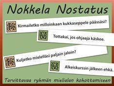 Tulostettava Nokkela nostatus ryhmätoimintaan | RyhmäRenki Team Building Exercises, Brain Breaks, Bond, Classroom, Teacher, Activities, Education, School, Peda