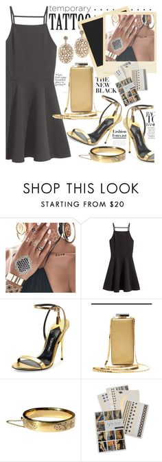 """TEMPORARY TATTOOS"" by shoalehnia ❤ liked on Polyvore featuring Flash Tattoos, Tom Ford and Lanvin"
