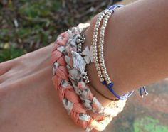 Bracelet tressé en tissu, facile et rapide !