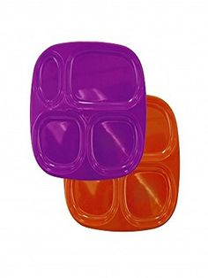 Purple Four-section Plate Is Ideal for Toddlers or for Keeping Food Separate for Picky Eaters. Keeps Meals in Order Making the Dining Experience Simple and Enjoyable. Great for Portion Control Melamine Ware http://www.amazon.com/dp/B00O8258BC/ref=cm_sw_r_pi_dp_8hgoub1RVWP85
