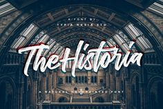 Ad: The Historia Urban Font by Typia Nesia on UPDATE - The Secondary Version (Solid Version) Introducing The Historia! an urban / vintage and natural handpainted font. Suitable for any Sans Serif, Best Free Script Fonts, Cool Fonts, Font Free, Brush Font, Brush Lettering, Script Lettering, Bulletins, Calle 13