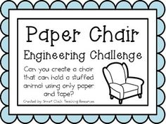 Paper Chair: Engineering Challenge Project ~ Great STEM Activity! $