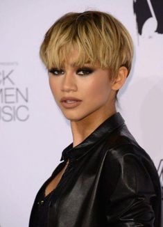 Short Hairstyles for Black Women (1) #shortblondepixie