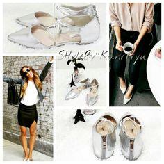 스틸레토 플랫슈즈 ♡ flat shoes ♡ 실버 ♡ www.kanrrryu.com ♡ kanrrryu ♡ 간류 ♡ 간류마켓 ♡ StyleByKanrrryu ♡ 스타일바이간류