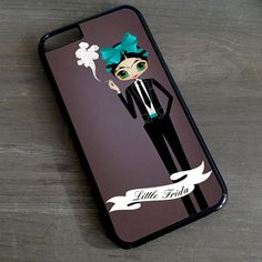 Pequeña Frida Kahlo fumar iPhone 7 6 5 4 cubrir \ ilustrado iPhone 6s más caso Samsung Galaxy S4 S5 S6 S7 borde