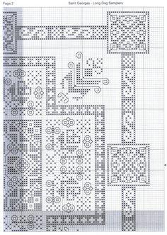 Gallery.ru / Фото #3 - St.George - Vlada65 Cross Stitch Borders, Cross Stitch Samplers, Cross Stitching, Blackwork, Vintage Patterns, Cross Stitch Patterns, Crochet Bedspread, Knitting Charts, Needlework