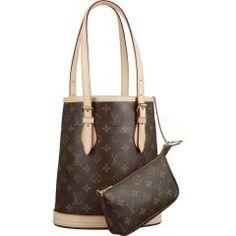 Louis Vuitton M42238 Handbag Petit Bucket Brown