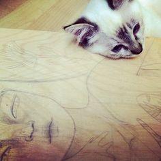 Supervisor Nabi #art #cat #sketch