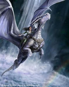 Dragons of Pern Books. Dragons - Anne Stokes - Take To The Air Fantasy Anime, Fantasy World, Dragon Medieval, Arte Game Of Thrones, Anne Stokes, Dragon's Lair, Dragon Girl, Dragon Heart, Pet Dragon