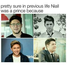 If I believed in past life then yea Prince Nialler Niall Horan Funny, Naill Horan, Zayn, One Direction Humor, I Love One Direction, Irish Boys, Irish Men, Mon Cheri, Love Of My Life