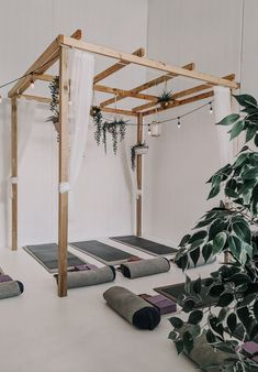 Designing a home yoga room? Follow these decor ideas, color tips and create a peaceful yoga room for you. Home Yoga Room, Yoga At Home, Yoga Studio Home, Extra Bedroom, Extra Rooms, Feng Shui, All You Need Is, Basement Renovations, Basement Ideas