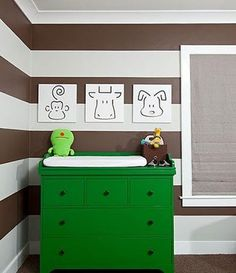 Maddox room idea w stripes