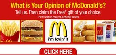 I gave them my 2 cents, lol, my opinion of McDonalds, and i'm gonna get a FREE Lunch For A YEAR! That's right FREE, Zero, Nada, $0 Check it out, click here: http://phalc.com/win-mcdonalds-for-a-year    McDonalds #McDonalds  #Lunch