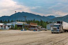 Coldfoot camp truck stop along the James Dalton Highway, arctic, Alaska.
