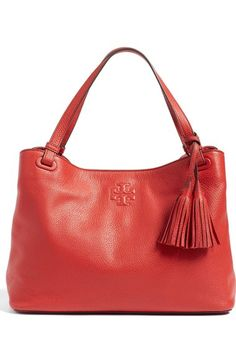 Tory Burch 'Thea' Tassel Leather Tote available at #Nordstrom