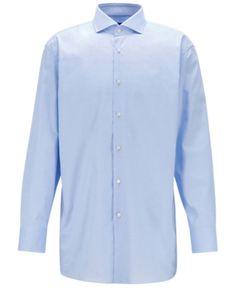 7fcf665ef Boss Men's Isko Travel Line Slim-Fit Cotton Shirt - Blue 15 in 2019 ...