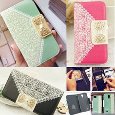 Fashion Wallet Card Holder PU Leather Flip Case Cover For Samsung Galaxy Phone