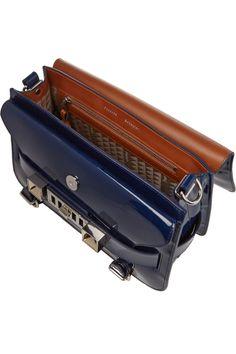 Proenza Schouler|The PS11 Classic patent-leather shoulder bag|NET-A-PORTER.COM