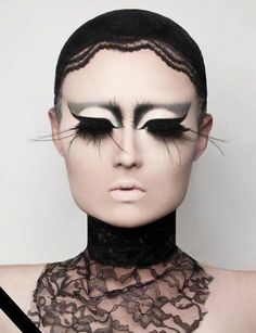 would be great for a #halloween party! Kim Chi's surreal lashes