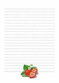 Free Printable Stationery, Printable Paper, Kids Notes, Recipe Binders, Note Paper, Writing Paper, Paper Decorations, Recipe Cards, Journal Cards