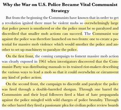 "Excerpt from ""The Communist Attack on U.S. Police"" by W. Cleon Skousen (written in 1966)."
