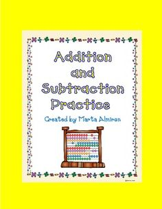 Here is my freebie for the month of April. Includes just a few worksheets for extra practice on Addition and Subtraction. Addition And Subtraction Practice, Math Subtraction, Math Addition, Morning Work, Teaching Math, Worksheets, Classroom Ideas, Sign, School