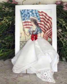 Wedding dress keepsake hankie