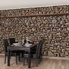 Bilderwelten Vliestapete Steinoptik Breit »Mediterranean Stonewall«.  Wandgestaltung TapeteWandverkleidungWanddekorationWohnzimmer ...