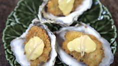 Fried Oysters with Pickled Ginger Aioli