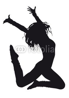 Dancer silhouette on a white background from zdenka1967, Royalty ...