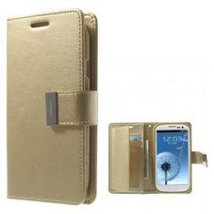 Samsung Galaxy S3 samppanjan kultainen puhelinlompakko. #galaxys3 #samppanja #suojakuoret Samsung Galaxy S3, Wallet, Purses, Diy Wallet, Purse