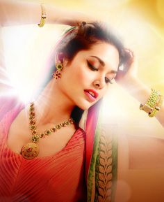 Esha Gupta for D'damas Jewelry http://www.ddamas.co.in/ Festive 2013
