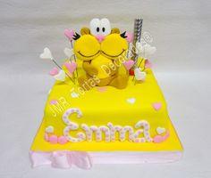 Torta Cookies Gaturro Jmr Tortas Decoradas Marti, Character Cakes, Decorated Cakes, Fondant, Cake Decorating, Birthday Cake, Cookies, Girls, Desserts