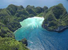 Maya Bay in Ko Phi Phi Leh, Phi Phi Islands, Krabi Province, Thailand Krabi, Phi Phi Thailand, Thailand Travel, Phuket Thailand, Phuket Travel, Surf Travel, Bali Travel, Hawaii Travel, Bangkok