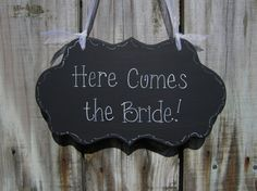 Wedding Sign Black Hand Painted Wooden Ring Bearer by kimgilbert3, $24.00