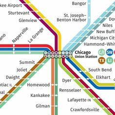 Chicago | Concept Chicago C, Kalamazoo Michigan, Metro Map, Benton Harbor, U Bahn, Change Management, Wayfinding Signage, Union Station, Line Design